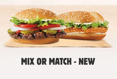 New $5 Mix or Match Deal at Participating Burger King Restaurants