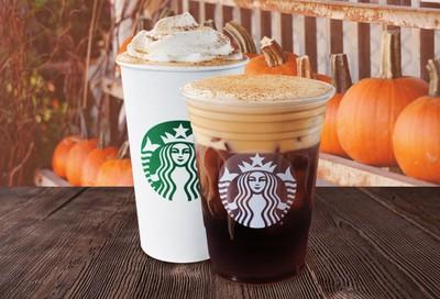 Popular Pumpkin Spice Line Returns for the Season to Starbucks