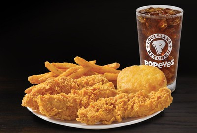 $6.00 3 Chicken Tenders Combo Online Offer Introduced Exclusively at Popeyes