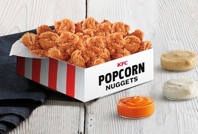Large Box of Popular KFC Popcorn Nuggets for $10 at Participating Kentucky Fried Chicken Restaurants