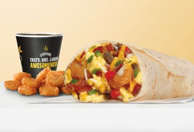 New Loaded Breakfast Burrito Featured on the Carl's Jr. Breakfast Menu