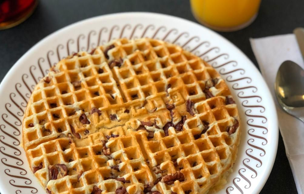 Waffle House Features their Signature Pecan Waffles