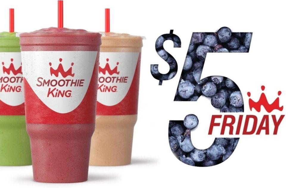 Smoothie King Celebrates $5 Fridays: Get $5 32 oz. Smoothies Every Friday at Smoothie King