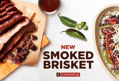 Select Chipotle Restaurants will be Testing Out a New Smoked Beef Brisket for a Limited Time
