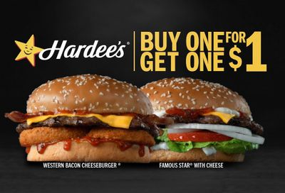 Hardee's Introduces New Buy One Get One for $1 Burger Offer for a Limited Time Only