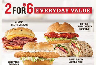 Arby's Announces their New 2 for $6 Everyday Value Menu: Chicken Sandwiches, Wraps & More