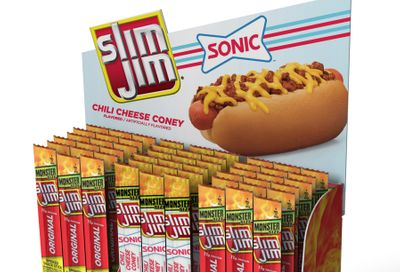 Slim Jim and Sonic Drive-in Partner to Present the New Chili Cheese Coney-flavoured Slim Jim