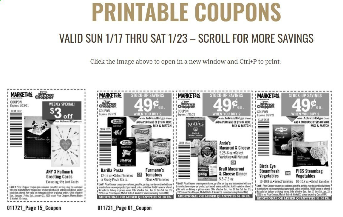 Price Chopper Weekly Ads Flyers Coupons Deals January 2021