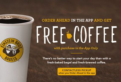 """Get a Free Coffee with an In-app Purchase When You Use """"Order Ahead"""" at Einstein Bros. Bagels"""
