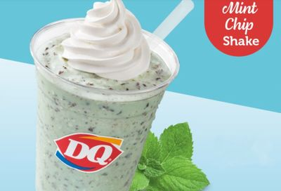 New Mint Chip Shake Arrives at Dairy Queen for a Limited Time