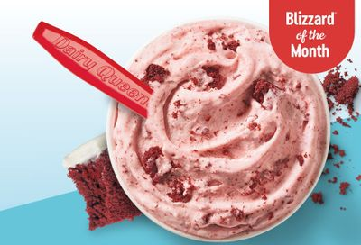 February's Blizzard of the Month Arrives Early at Dairy Queen with the Red Velvet Cake Blizzard