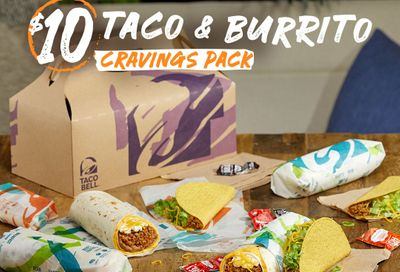 The Taco & Burrito Cravings Pack Returns to Taco Bell for Only $10