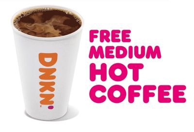 DD Perks Members Get a Free Hot Medium Coffee With Any Purchase Every Monday in February at Dunkin' Donuts
