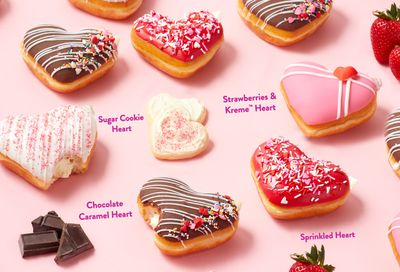Sweet Valentine's Day Doughnuts Arrive for a Limited Time Only at Krispy Kreme