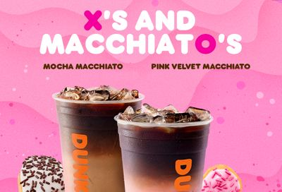 Chocolate and Red Velvet Themed X's and Macchiato's Make a Splash at Dunkin' Donuts this Valentine's Day