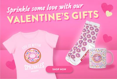 Krispy Kreme Offers New Online Valentine's Day Merch with the Sprinkles Collection for a Limited Time