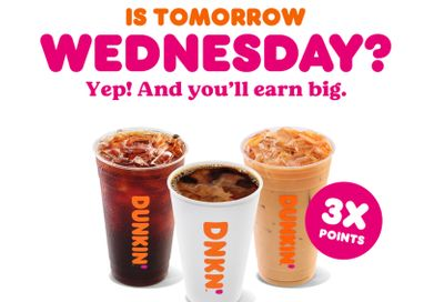 On February 17, DD Perks Members Can Earn Triple the Rewards Points on Hot or Iced Drinks at Dunkin' Donuts