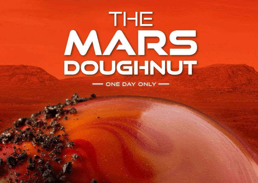 One Day Only: Krispy Kreme Launches the New Mars Doughnut on February 18