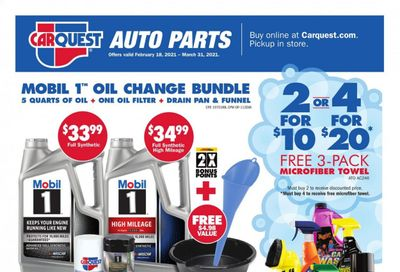 Carquest Weekly Ad Flyer February 18 to March 31