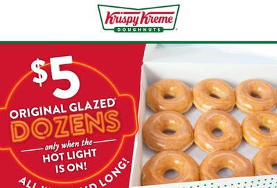 Save Big with $5 Original Glazed Dozens During Hot Light Hours Only at Krispy Kreme Through to February 28