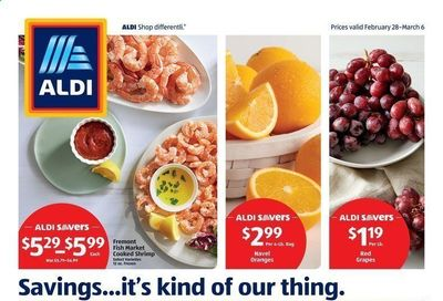 ALDI Weekly Ad Flyer February 28 to March 6