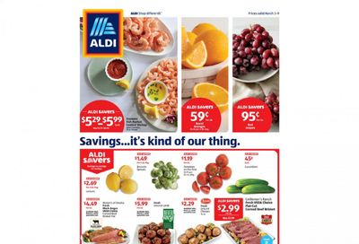 ALDI Weekly Ad Flyer March 3 to March 9