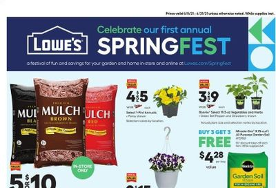 Lowe's Weekly Ad Flyer April 8 to April 21