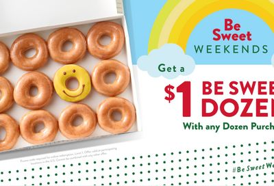 BE SWEET WEEKEND BUY ONE GET ONE FREE DOZEN DONUT DEAL