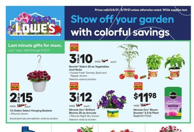Lowe's Weekly Ad Flyer May 6 to May 19
