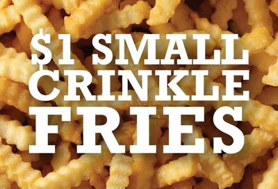 Arby's Introduces $1 Small Crinkle Cut Fries for a Limited Time
