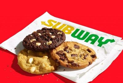 Buy a $15 Subway Gift Card Online and Get a Free Cookie Reward for a Limited Time