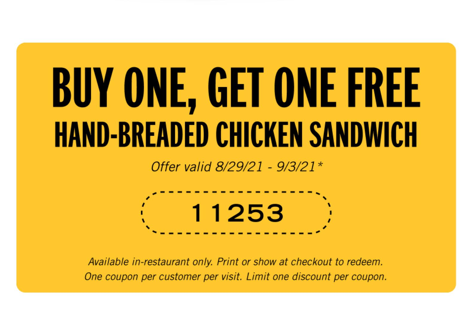 Carl's Jr. has Sent Out a New Buy 1 Get 1 Free Hand-breaded Chicken Sandwich Coupon through their Email Club
