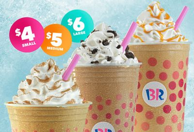 Save on a Cappuccino Blast at Baskin-Robbins this Fall with $4, $5 and $6 Drinks