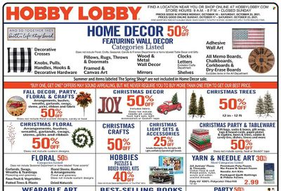 Hobby Lobby Weekly Ad Flyer October 18 to October 25